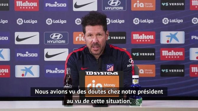 """Atlético - Simeone : Quitter la Super Ligue ? """"La meilleure décision"""""""
