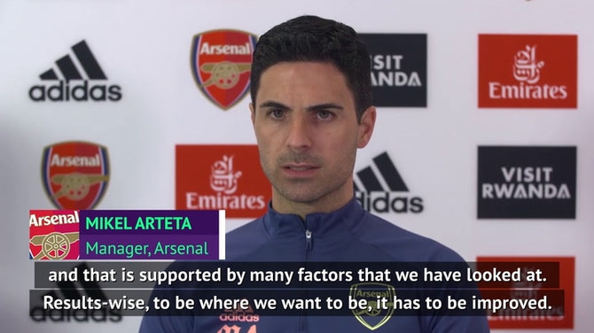 Arteta insists Arsenal have progressed in 'many areas'