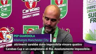 """Anteprima immagine per Guardiola vince, ringrazia Bielsa e attende il PSG: """"Ma la Premier è il titolo più bello"""""""