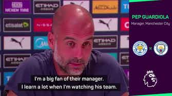 Preview image for Guardiola a big admirer of Brendan Rodgers' football