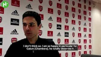 Preview image for Mikel Arteta: 'Calum Chambers deserved his moment against Leeds'