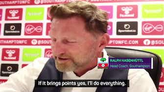 Preview image for 'I'll wear Speedos if it means we get a good result!', jokes Southampton boss Hasenhuttl