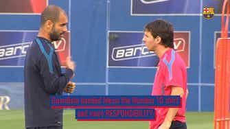 Vorschaubild für Pep's influence on Messi's career