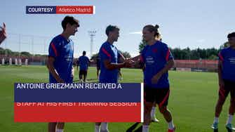 Preview image for Griezmann receives warm welcome at Atletico training