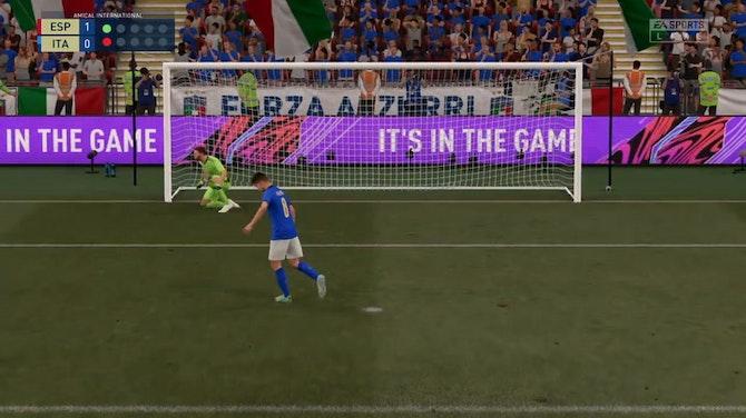 Image d'aperçu pour Séance de tirs aux buts entre l'Italie et l'Espagne, une panenka ratée ! (FIFA)