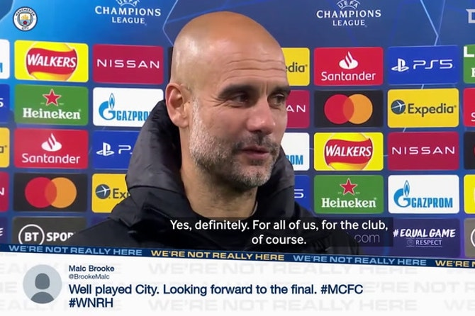 Pep Guardiola on Manchester City reaching Champions League Final: 'We did it!'