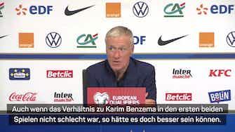 """Vorschaubild für Deschamps lobt Griezmann: """"Heute hervorragend"""""""
