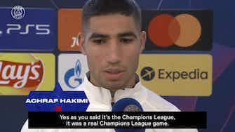 Vorschaubild für Hakimi reacts to win over RB Leipzig