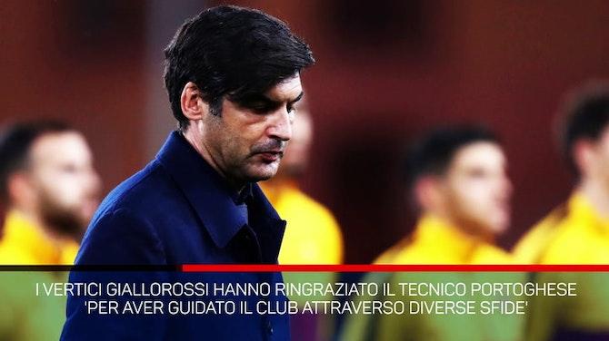 Roma, ufficiale l'addio a Fonseca a fine stagione
