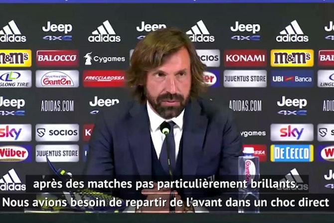"""Juventus - Pirlo : """"On avait besoin de ce résultat"""""""