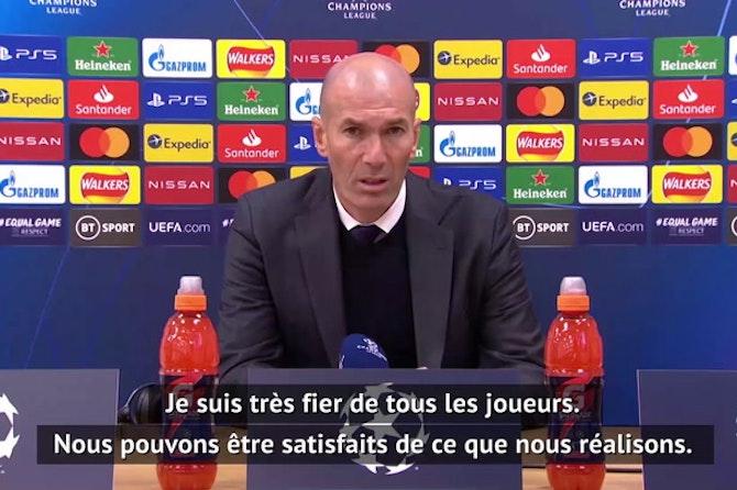 """Quarts - Zidane : """"Très fier de tous les joueurs"""""""