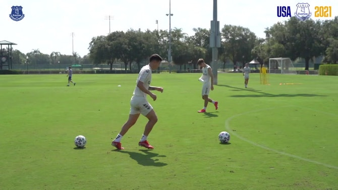 Preview image for James Rodríguez stars in Everton training in Florida