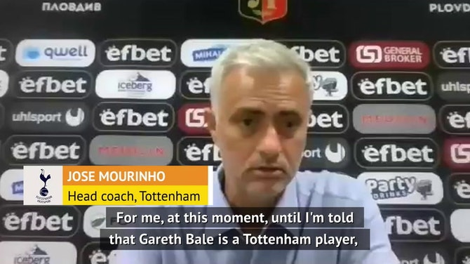 Preview image for Spurs boss Mourinho remaining tight-lipped on Bale