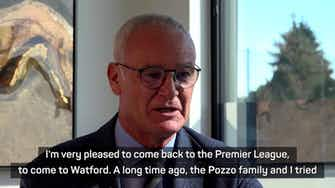 Preview image for New Watford boss Ranieri excited for Premier League return