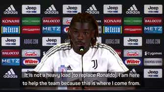 Preview image for Kean has no concerns about replacing Ronaldo at Juventus