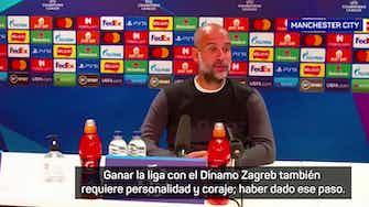 """Imagen de vista previa para Guardiola: """"Dani Olmo tuvo coraje, dejó el Barcelona"""""""