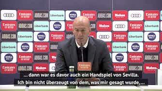 Vorschaubild für Zidane sauer: Verstehe den Schiedsrichter nicht