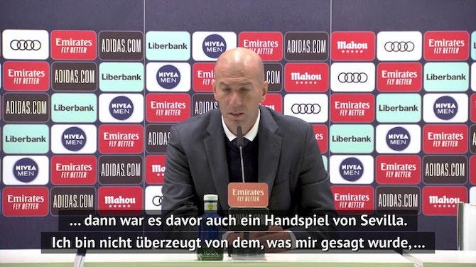 Zidane sauer: Verstehe den Schiedsrichter nicht