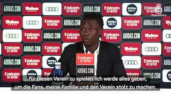 """Vorschaubild für Camavinga: """"Fans, Familie und Klub stolz machen"""""""