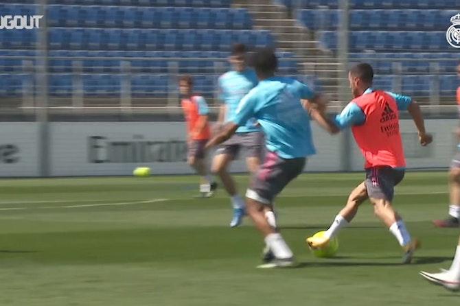 Real Madrid treina focado no confronto diante do Sevilla