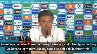 Preview image for 'Enjoy football' - Luis Enrique after spectacular 5-3 win against Croatia
