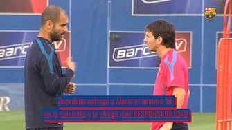 Imagen de vista previa para La influencia de Pep Guardiola en la carrera de Leo Messi