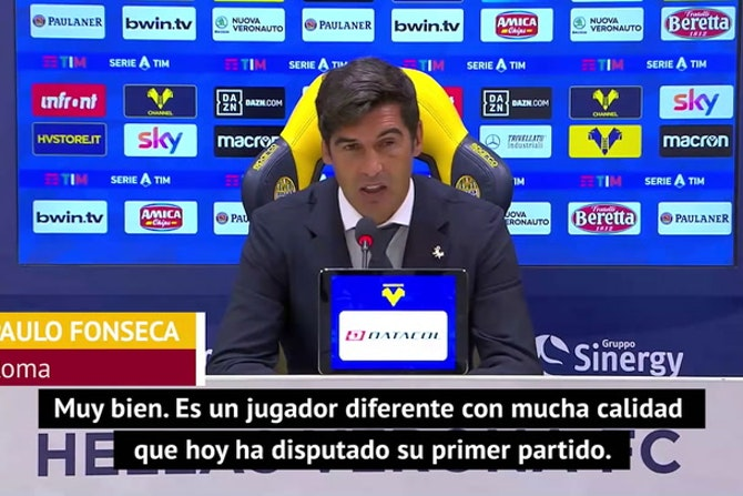 Fonseca, encantado con el debut de Pedro