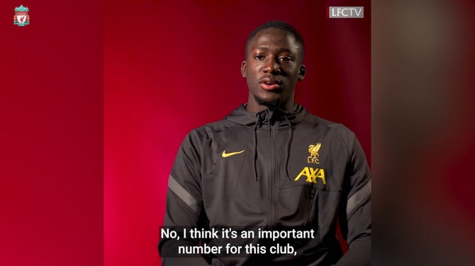 Preview image for Konaté on taking the number five jersey and Liverpool aims