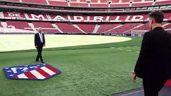 Imagen de vista previa para La bienvenida de Enrique Cerezo a Griezmann en el Wanda Metropolitano