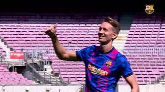Image d'aperçu pour La présentation de Luuk de Jong au Camp Nou