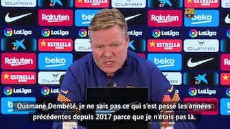 """Image d'aperçu pour 22e j. - Koeman sur Dembélé : """"J'adore ce joueur"""""""