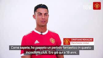 """Anteprima immagine per United, le prime parole di Ronaldo: """"Felice di essere tornato a casa"""""""