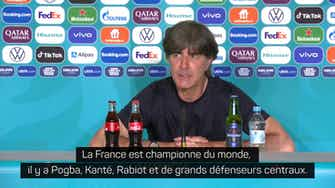 """Image d'aperçu pour Groupe F - Löw : """"Je pense que la France est la meilleure équipe du monde sur les coups de pieds arrêtés"""""""
