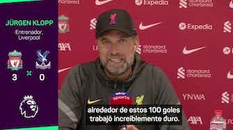 Imagen de vista previa para Klopp elogió a Mané por sus 100 goles con el Liverpool