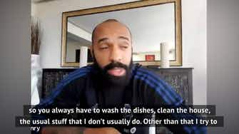 Preview image for  I feel like I clean like the house every two minutes - Thierry Henry on life in lockdown
