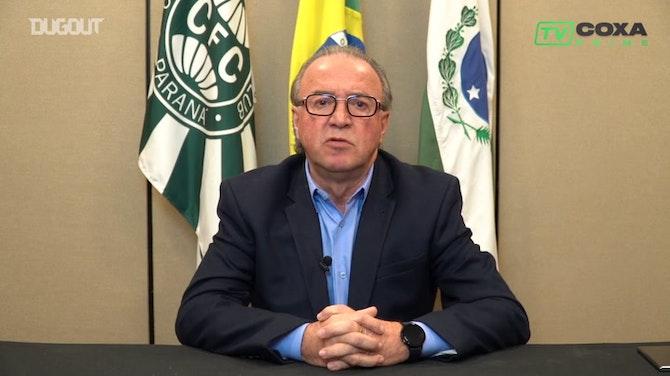 Imagem de visualização para Renato Follador faz pronunciamento para torcida do Coritiba