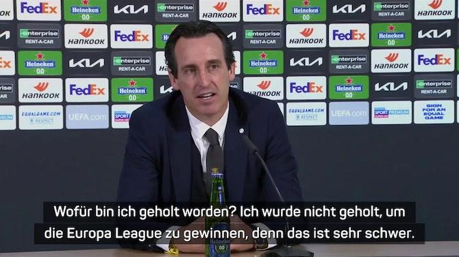 """Vorschaubild für Emery lobt nach EL-Triumph """"tadellose Saison"""""""