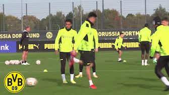 Image d'aperçu pour L'entrainement de Dortmund avant l'Ajax