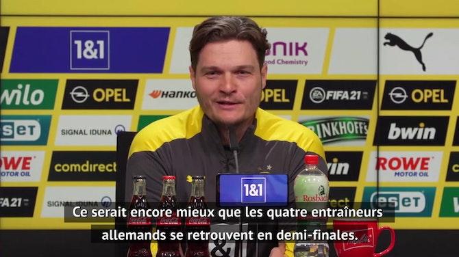 """Image d'aperçu pour Quarts - Terzic : """"C'est une belle histoire pour le football allemand"""""""
