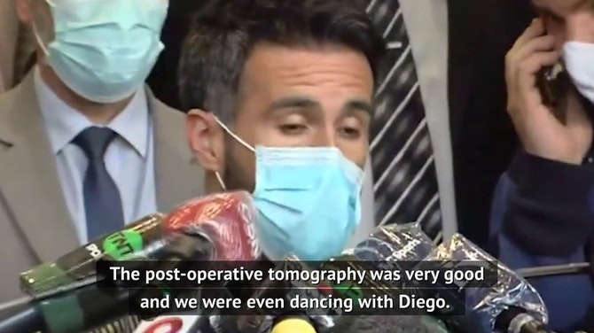 Diego has been dancing - doctor gives update on Maradona's condition
