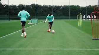 Image d'aperçu pour L'entrainement d'Arsenal avant Chelsea