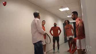 """Imagem de visualização para Renato Gaúcho brinca com Gabigol: """"O que você tem de idade, tenho de título"""""""