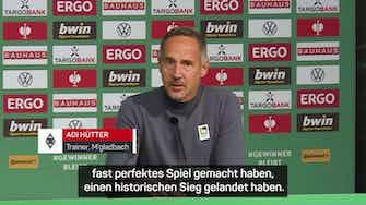 """Vorschaubild für Hütter schwärmt nach 5:0: """"Fast perfektes Spiel"""""""