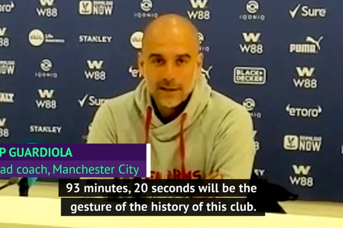 Guardiola hails departing Aguero's match-winning performance