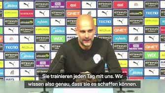 """Vorschaubild für Guardiola lobt Akademie-Spieler: """"Ich liebe es"""""""