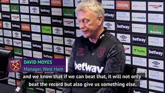 Preview image for Moyes demands final West Ham push for Europa League