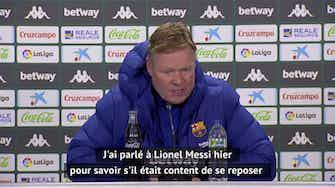 """Image d'aperçu pour 22e j. - Koeman : """"Messi a complètement changé la donne"""""""