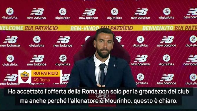 """Anteprima immagine per Rui Patricio ammette: """"Alla Roma anche per Mourinho"""""""