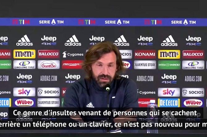 Juventus - Pirlo réagit aux insultes dont a été victime son fils