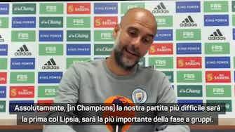 """Anteprima immagine per Guardiola: """"Oggi mentalità incredibile. Il PSG? Non ci penso..."""""""